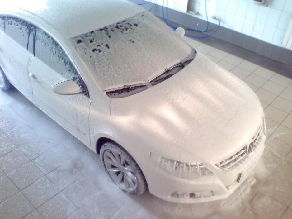 Мойка машин зимой