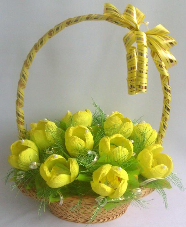 Фото тюльпаны из конфет из бумаги своими руками