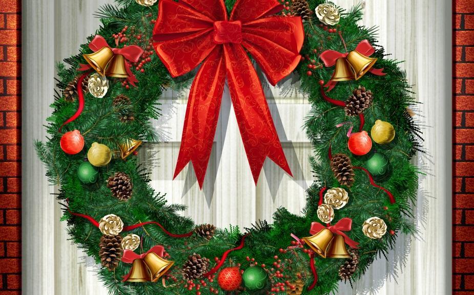 Черно Как сделать новогоднее украшение на дверь