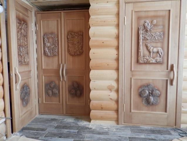 Входная дверь в баню из дерева - Онлайн курсы