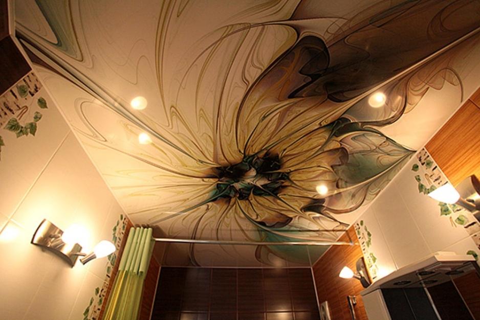 Необычные натяжные потолки фото
