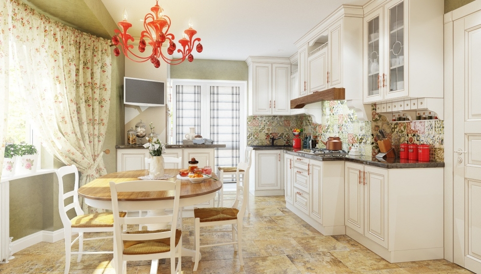 Дизайн кухни в стиле прованс 12 кв метров