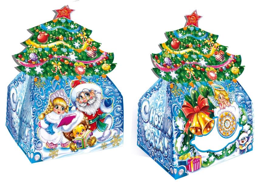 Новогодняя упаковка центр подарков 13