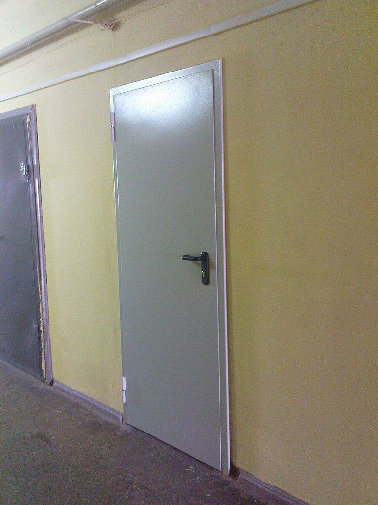 двери двупольные металлические огнеупорные