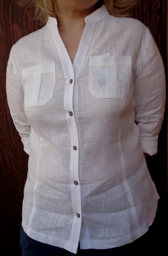 Купить Льняную Белую Блузку