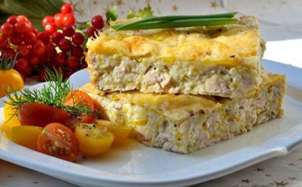 Рецепты запеканки из кабачка филе курицы