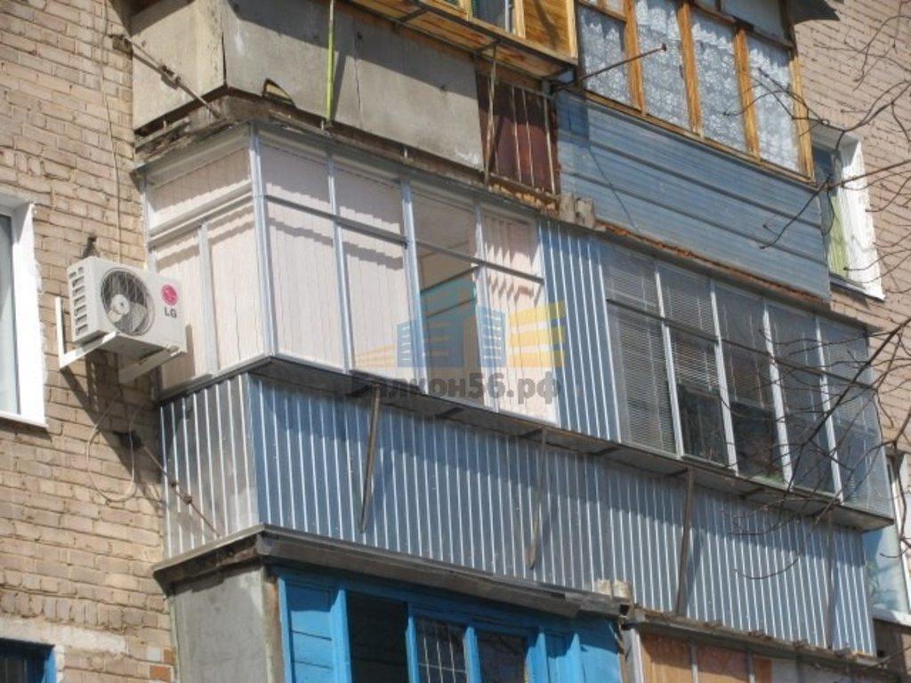 Остекление балконов алюминиевым профилем купить или заказать.