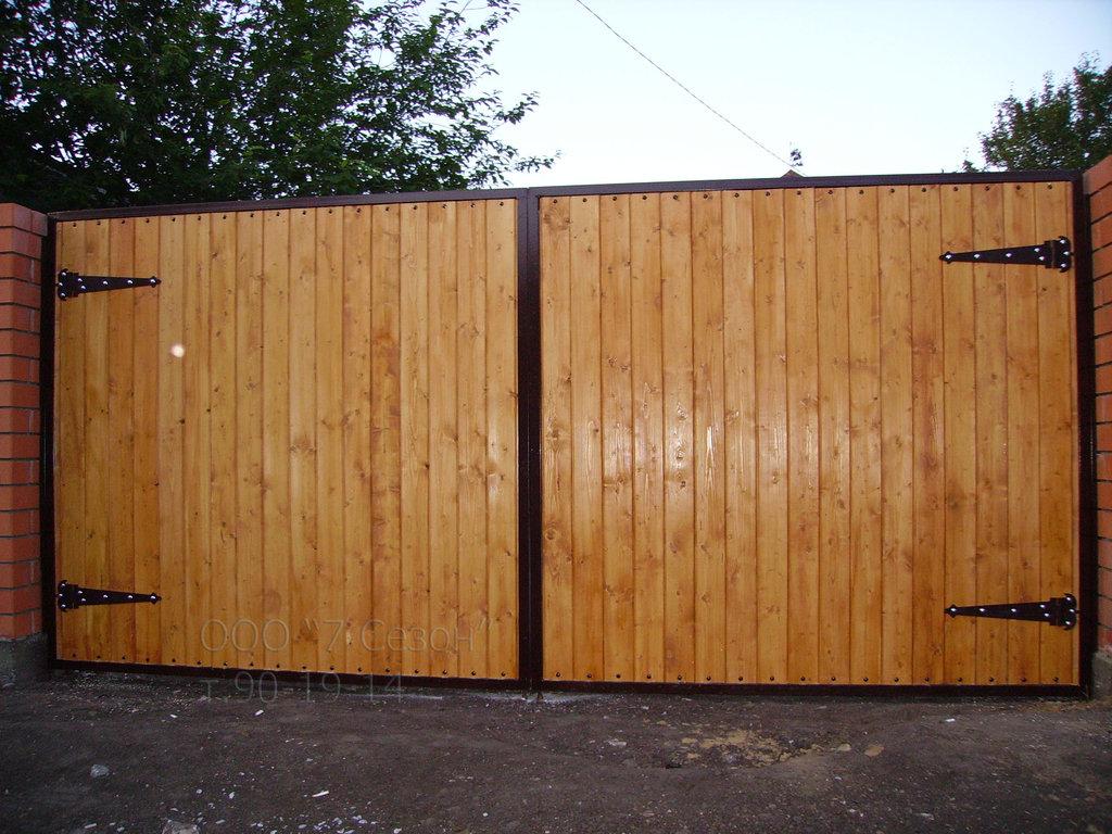 Ворота для дачи из профнастила заказать тюмень цена откатные ворота производство серпухов