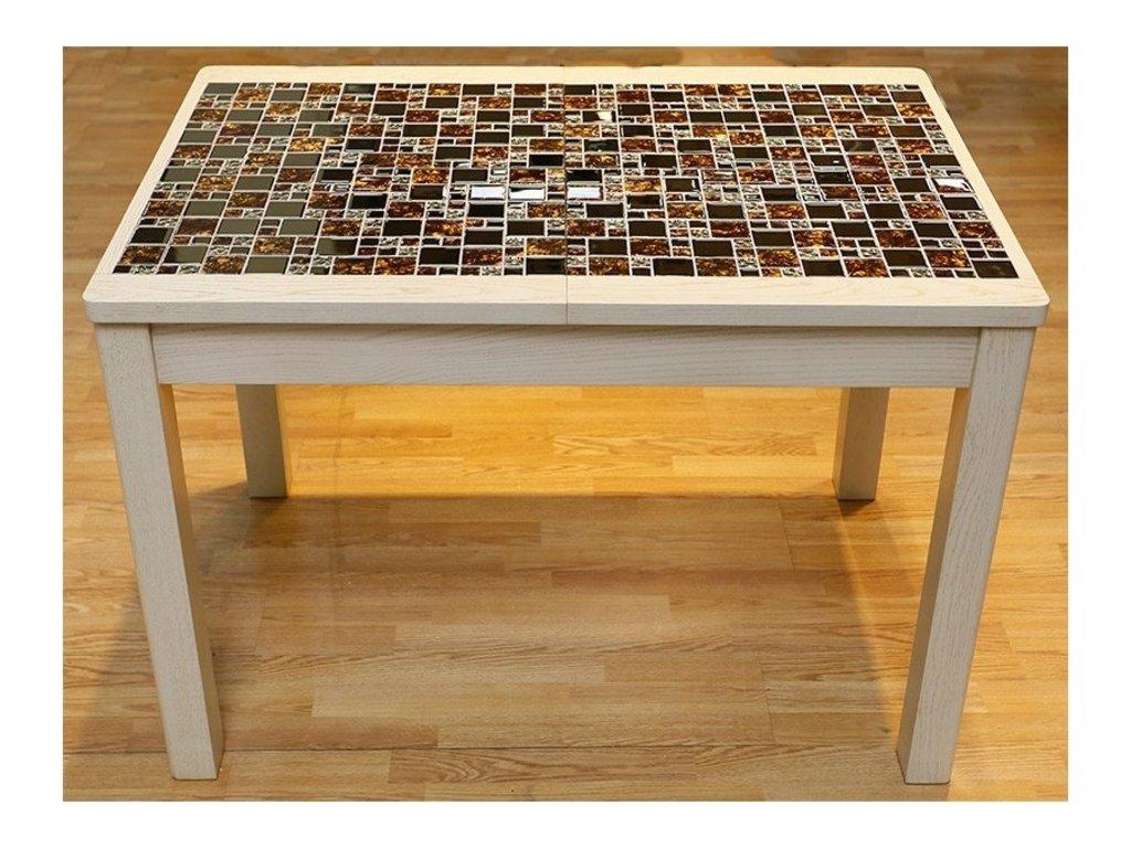 Стол с покрытием из мозаики своими руками 44