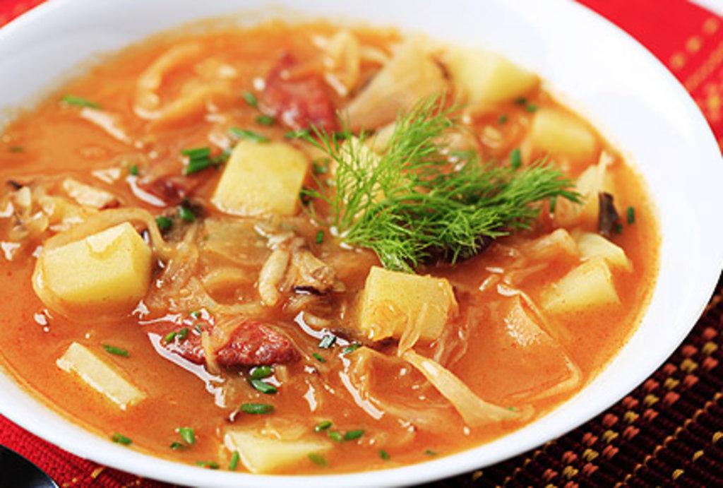 суп из свинины с капустой и картошкой