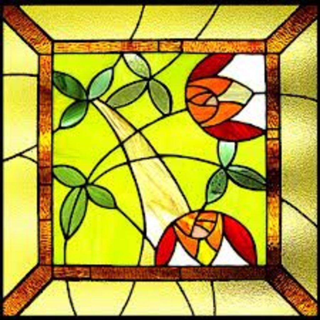 Трафареты витражей на стекле своими руками