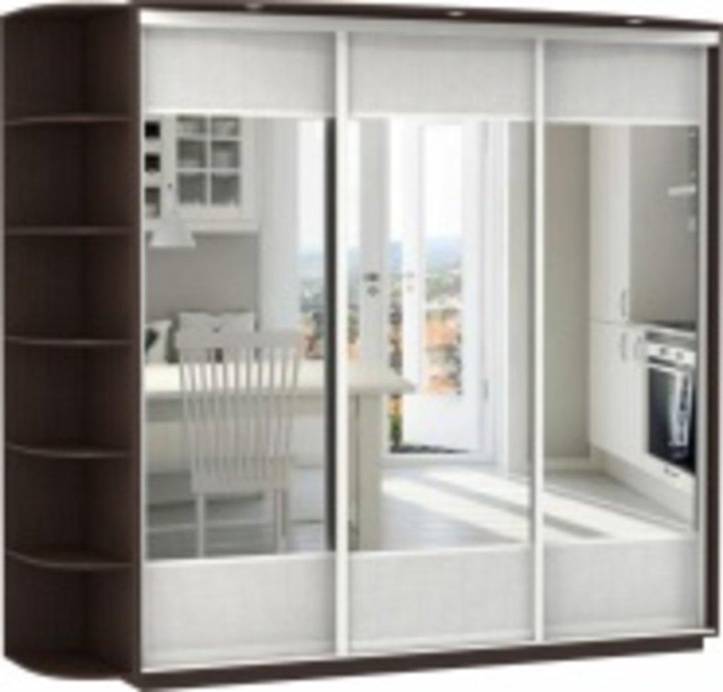 Шкафы-купе : 3-х дверный, корпус венге, двери зеркала вставк.