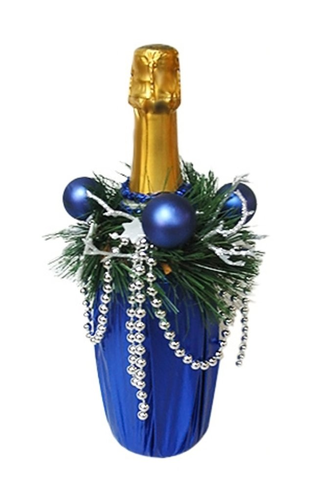 Подарки своими руками из бутылки с шампанским