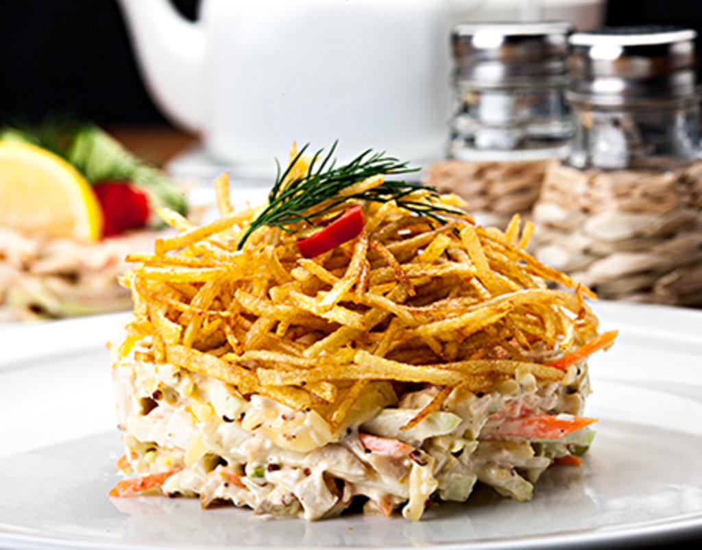 Салат картофель пай рецепт