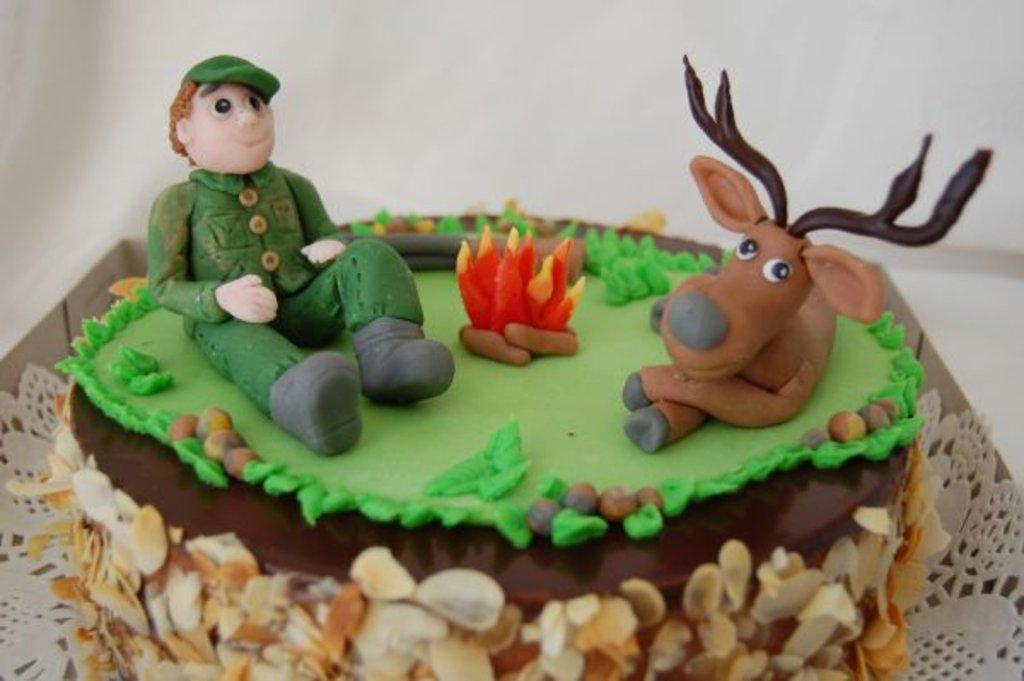Как сделать торт для охотника