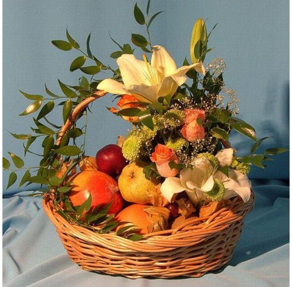Корзинки с цветами и фруктами своими руками