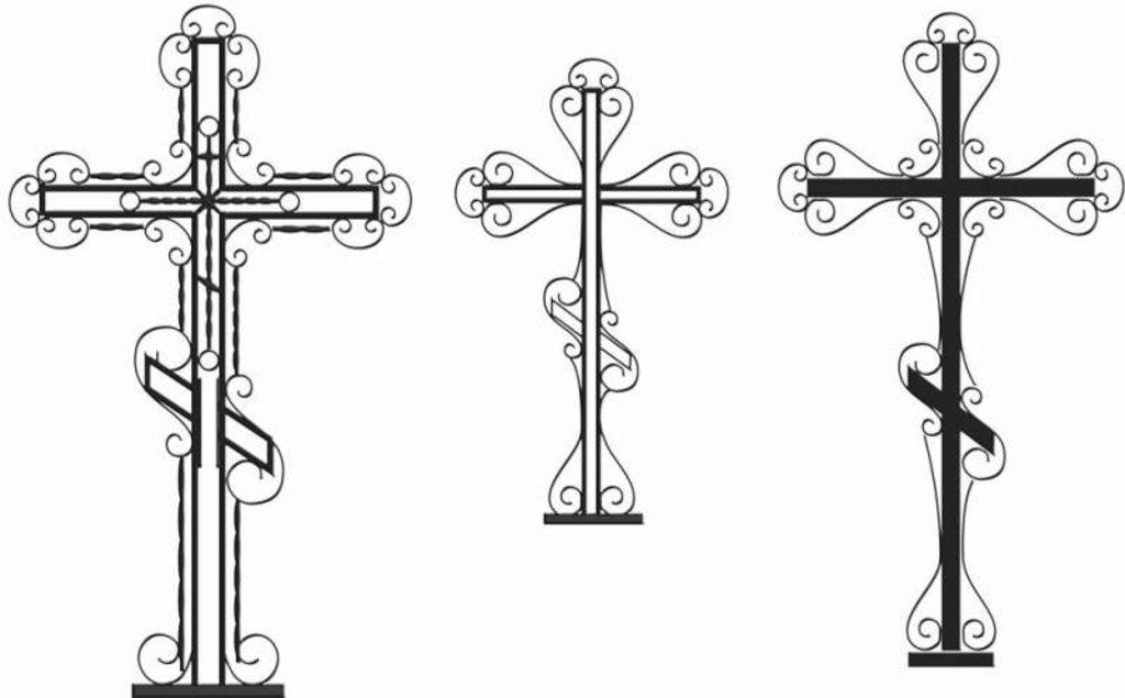 Могильный крест нарисован на двери