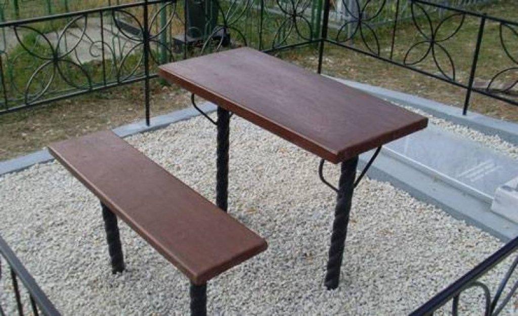 Столик и скамейка для кладбища своими руками 164