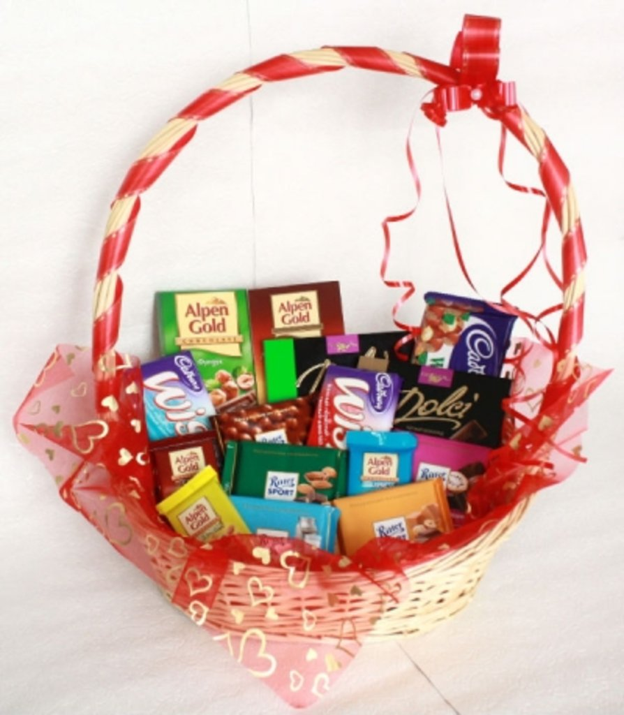 Подарок из шоколадок своими руками