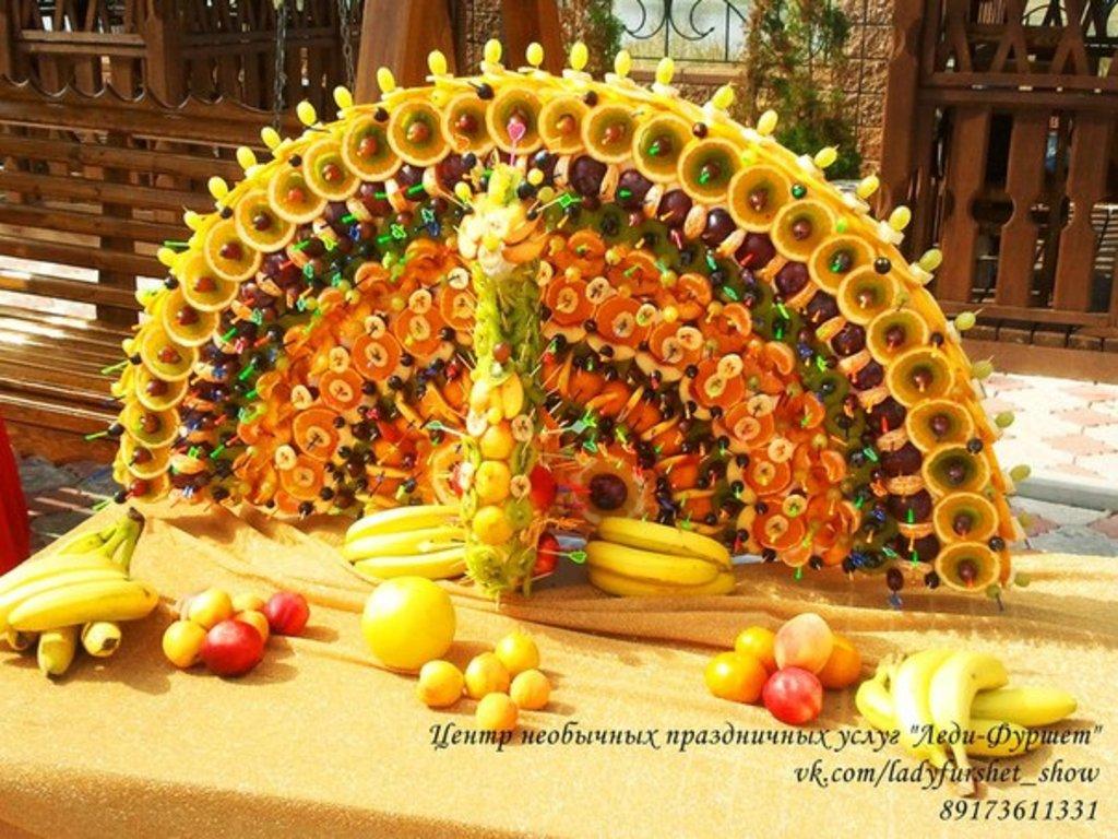 Как сделать пирамиду из овощей и фруктов - Jiminy.ru