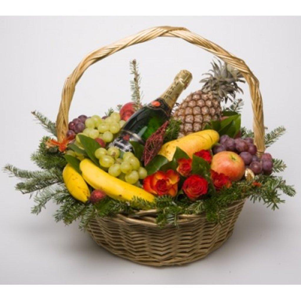 Фото корзина с фруктами своими руками