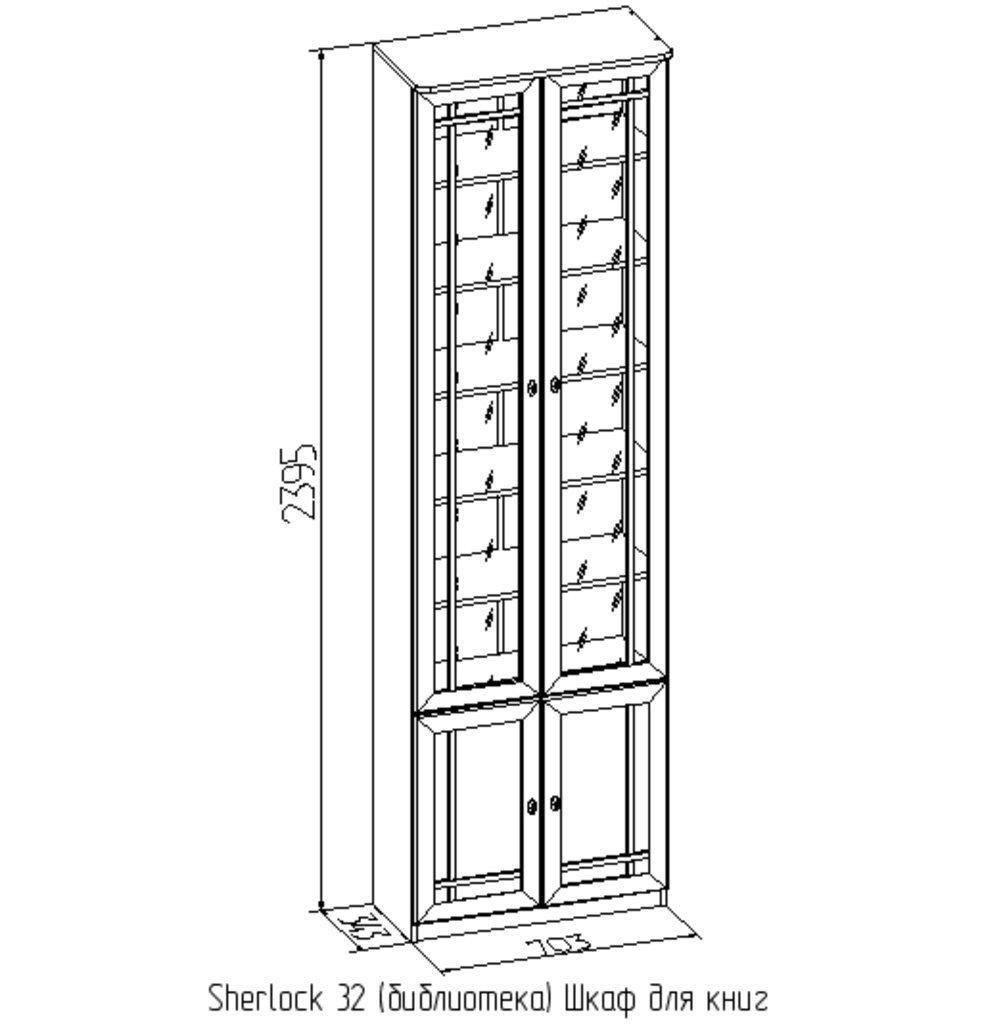 Шкаф для книг sherlok (глазов) - мебель недорого в москве.