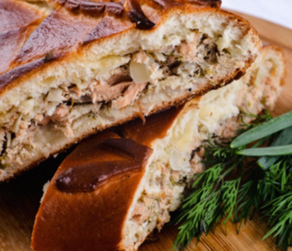 Пирог с филе горбуши рецепт с