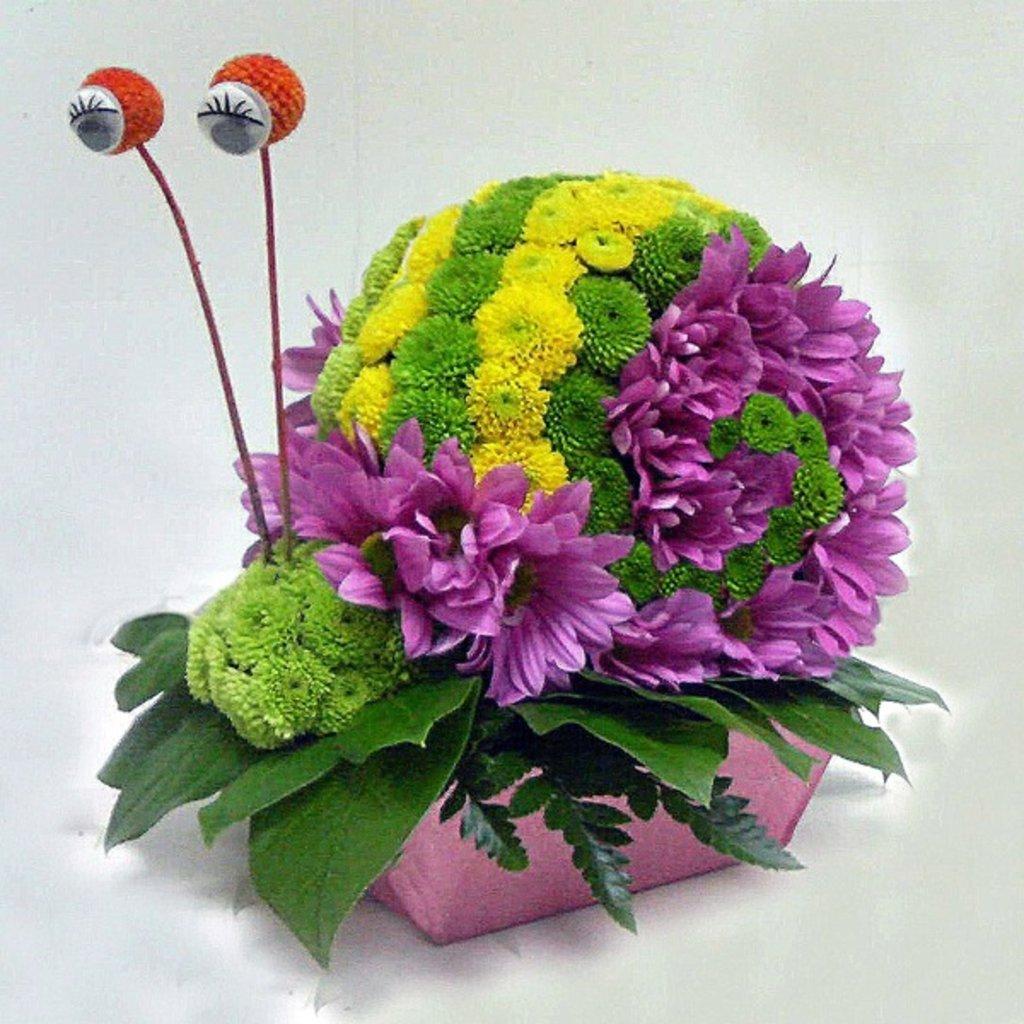 Композиции из живых цветов своими руками мастер класс