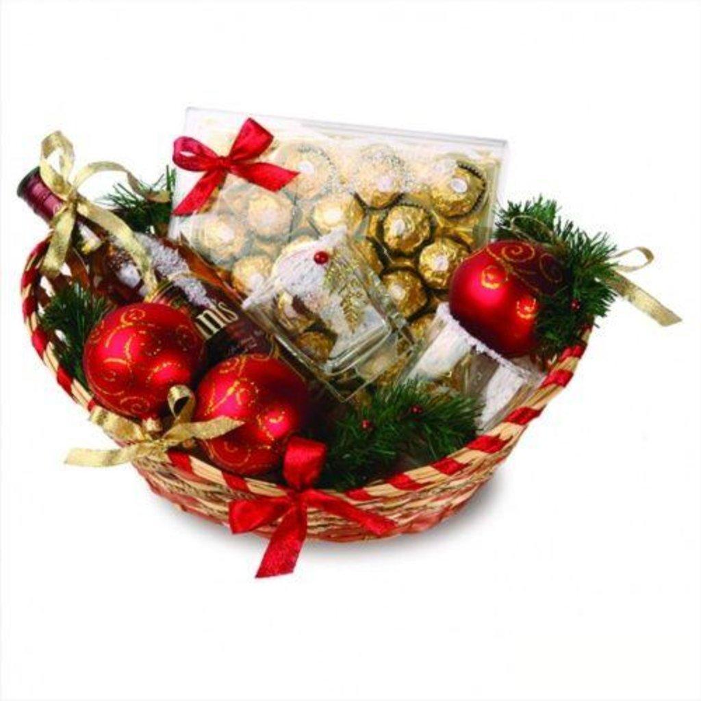 Новогодние корзинки в подарок