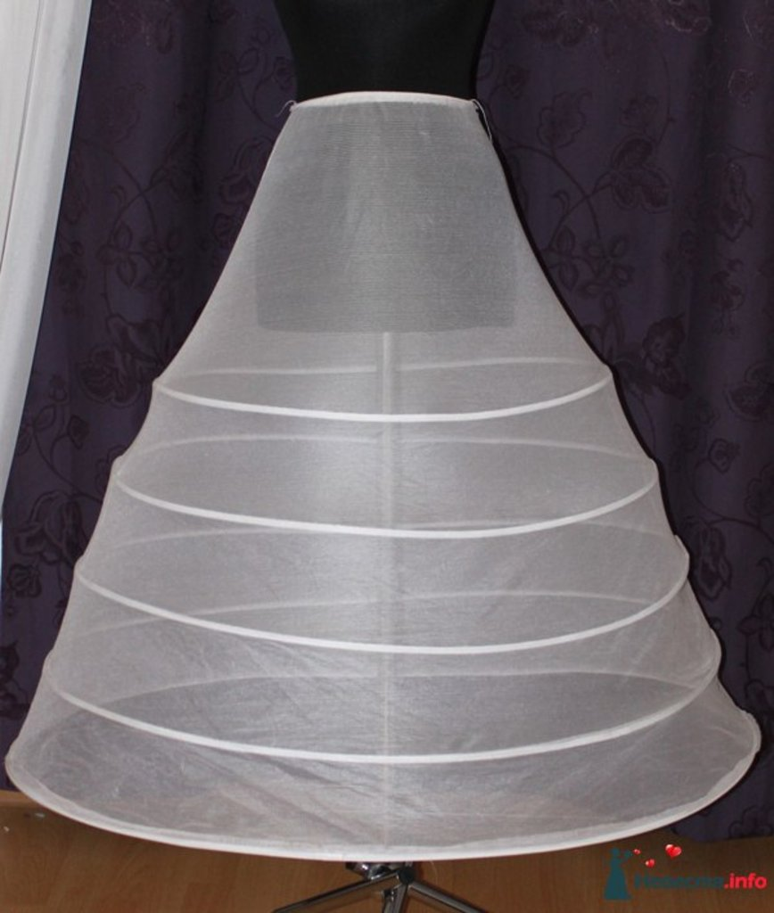 Подъюбник для свадебного платья с кольцами