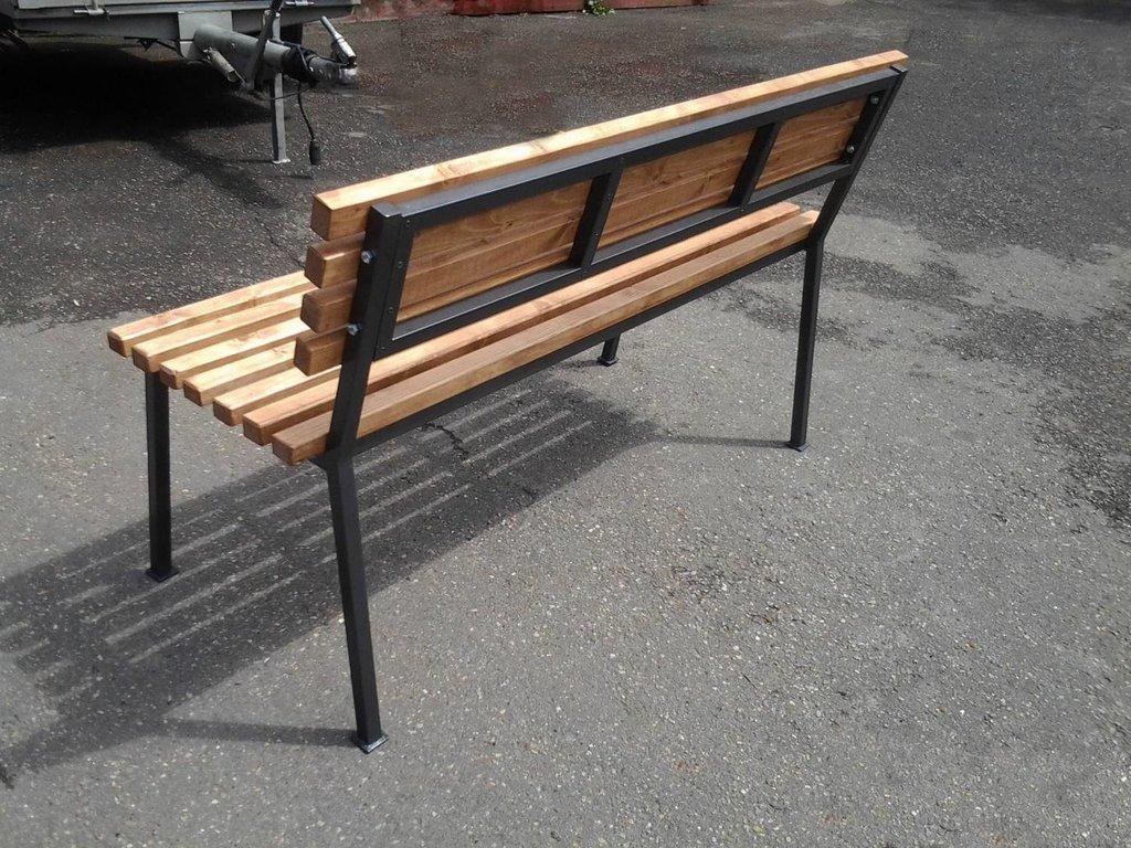 Садовые скамейки из металла своими руками чертежи и фото