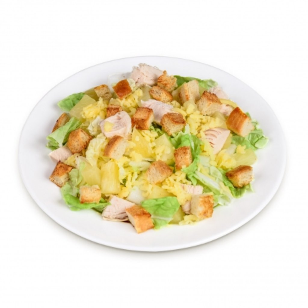 Салат сырный с курицей