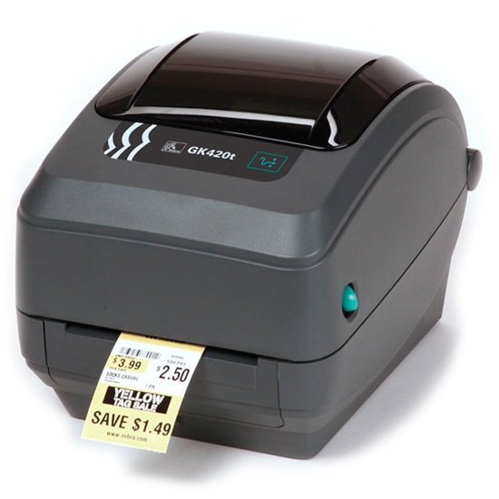 Принтер штрих-этикеток Zebra GK420t (203 dpi, RS232, USB)