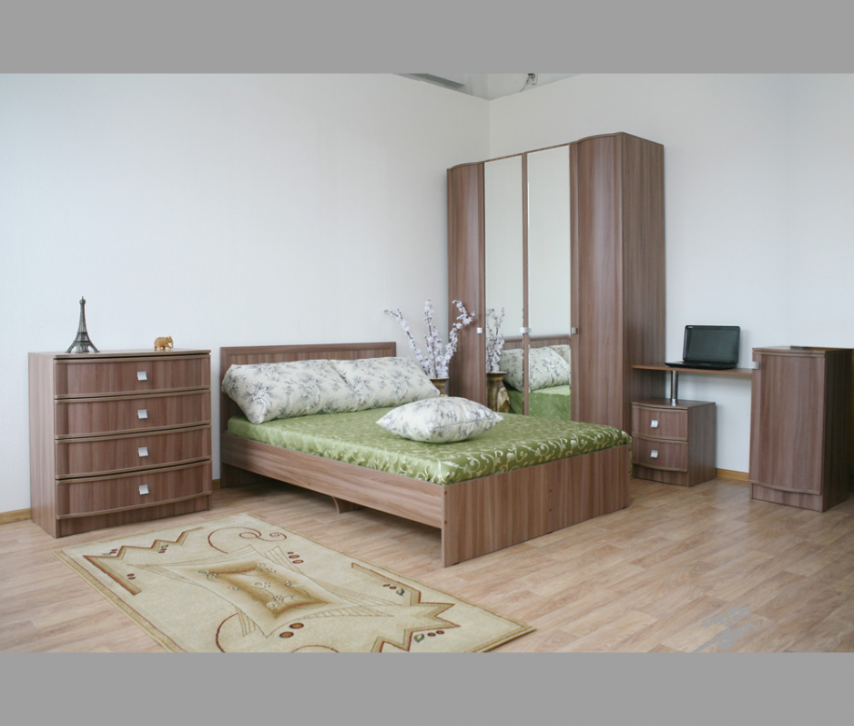 Мебель для спальни Линаура серия Соната Ясень Шимо