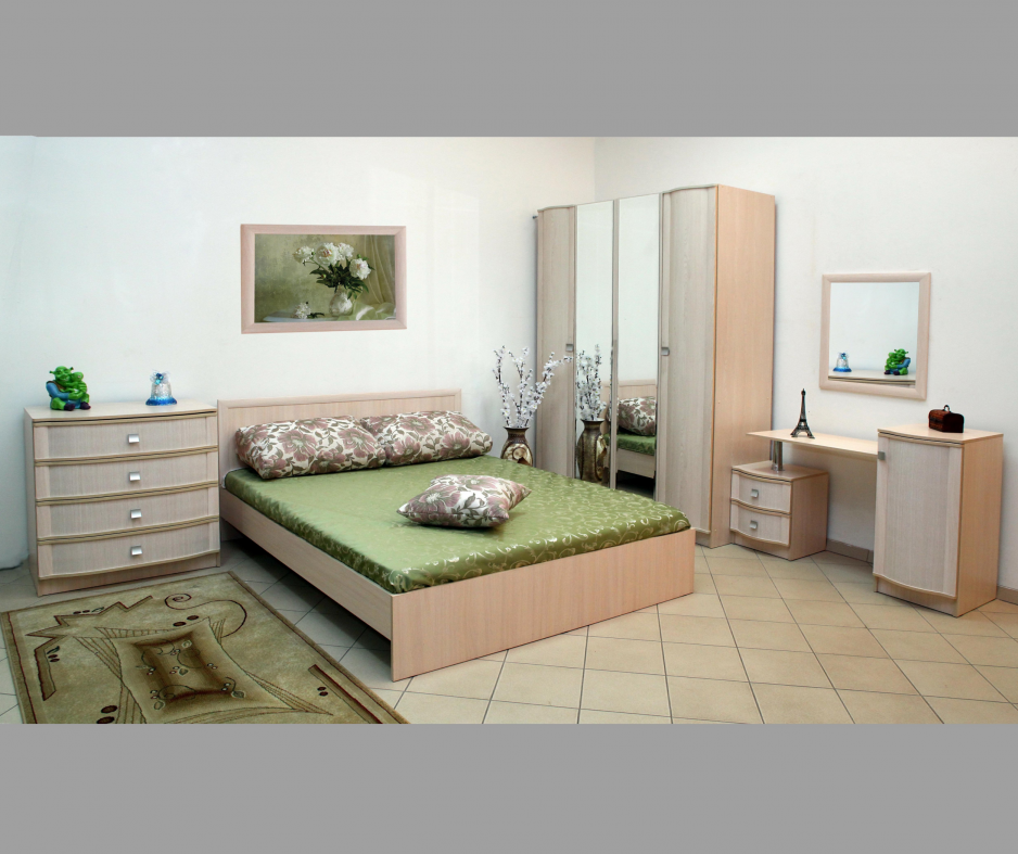 Мебель для спальни Линаура серия Соната Дуб Молочный