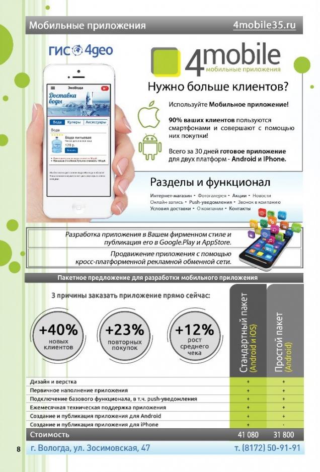 создание мобильных приложений в Череповце