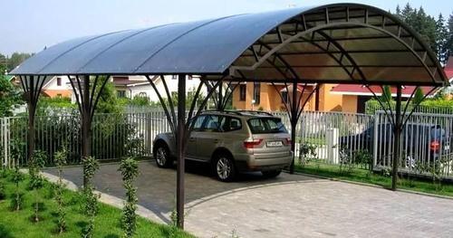 навесы из поликарбоната для авто