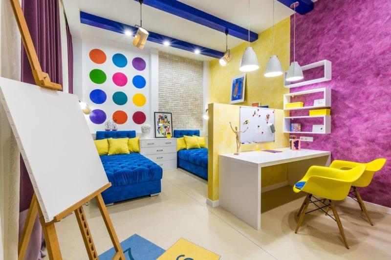 Ремонт детской комнаты под ключ в Красноярске, для мальчика и девочки, купить, цена