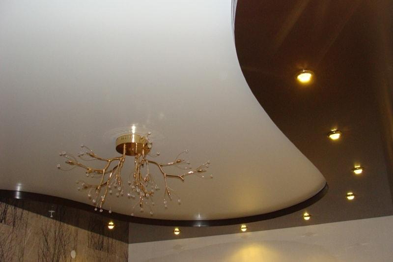 Двухуровневые натяжные потолки в Красноярске от производителя, заказать, купить, цена