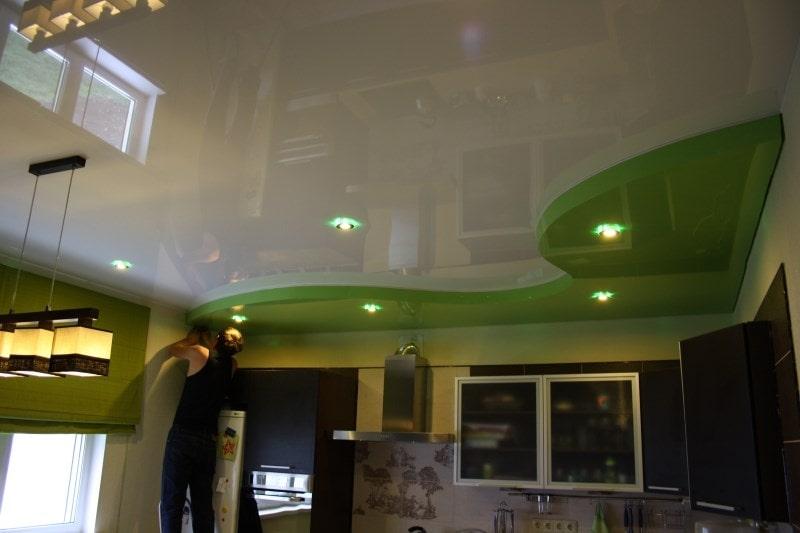 Натяжные потолки на кухню в Красноярске от производителя, цена