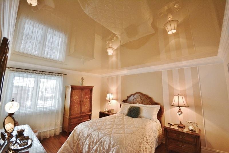 В спальню натяжные потолки в Красноярске