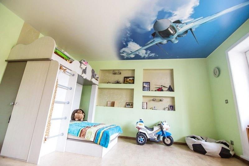 В детскую натяжные потолки в Красноярске