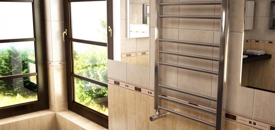Установка водного полотенцесушителя в ванной