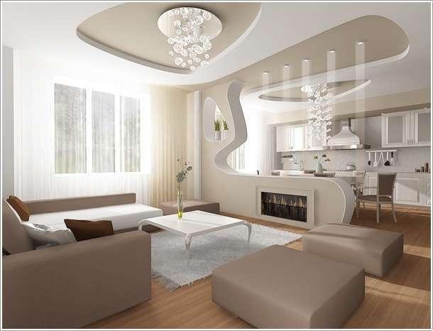 одноуровневые потолки в квартире