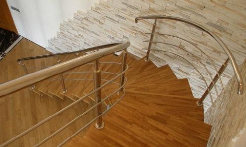 Поручни для лестниц из нержавейки