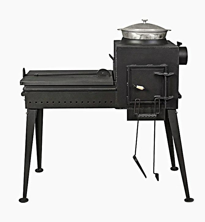 Печь-мангал Буран с крышкой