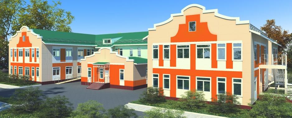 Общий вид детского сада на 140 мест