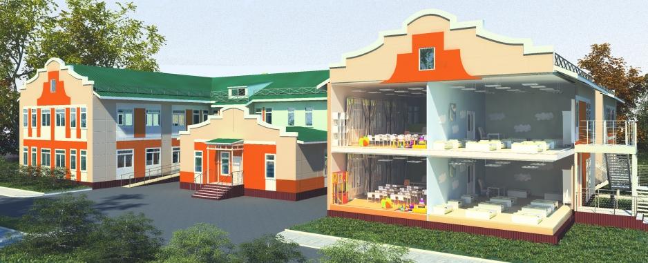 Интерьер детского сада на 140 мест