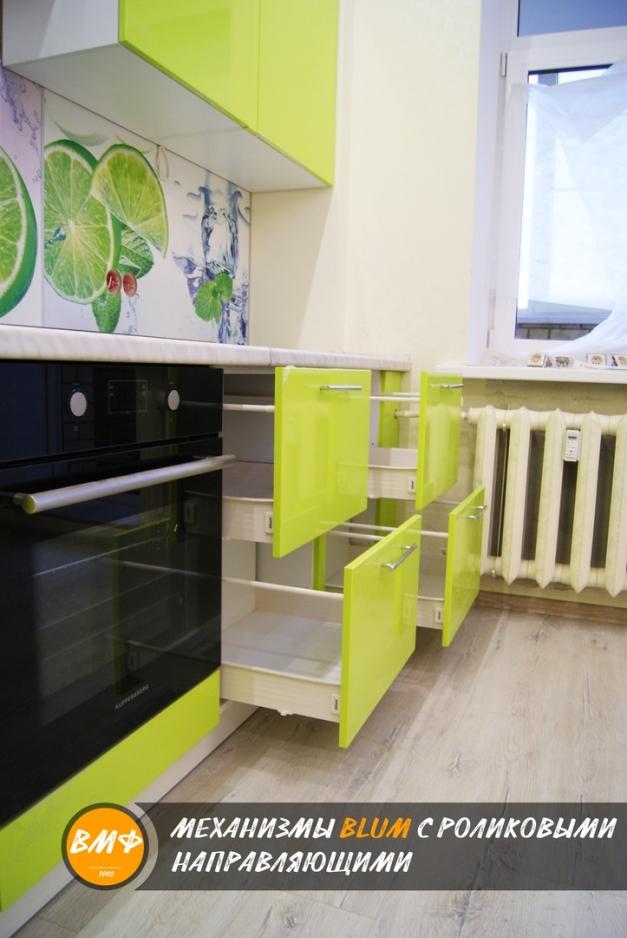 Кухня «JAZZ» Лайм глянец