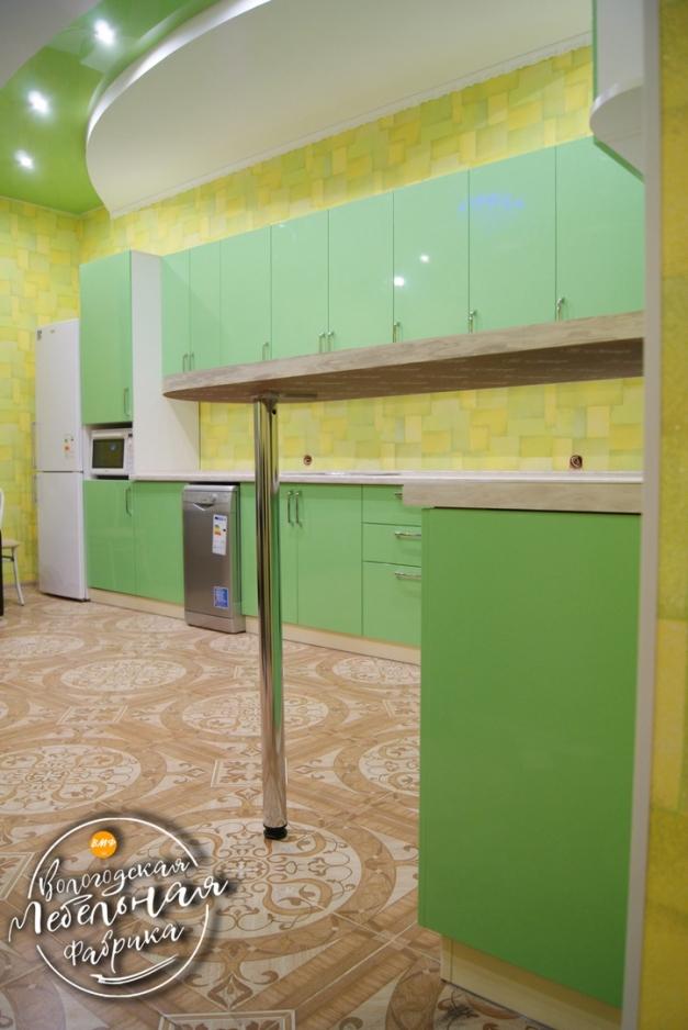 Кухня «JAZZ»— зеленый металик